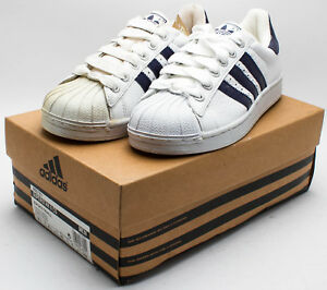 Adidas Men/'s Vintage 2000 Superstar 2 CS Tumble Leather 665781 White//Blue sz 8.5
