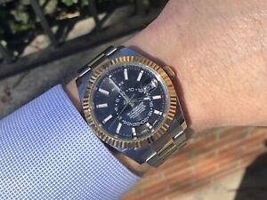 Details about Rolex Two Tone Sky,dweller 326933 Black Dial