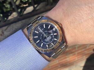 Details about Rolex Two Tone Sky,dweller 326933 Black Dial
