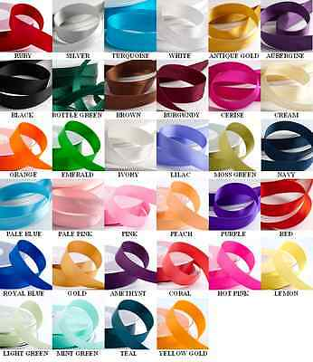 3MM SATIN RIBBON DOUBLE SIDED WEDDING CRAFT FAVOURS DECORATION 50 MTR REEL