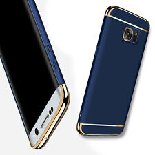 Luxury Thin Electroplate Hard Back Case Cover For Samsung Galaxy S6 Dark Blue
