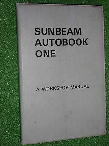 HILLMAN-SUNBEAM-AUTOBOOK-ONE-WORKSHOP-MANUAL-TIGER-TIGRE-260-Cob-RAPIER-gt-1965