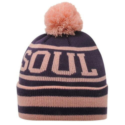 SoulCal Hail Igloo Hat Junior Boys Beanie Knit Warm Winter Purple Pink R253-27