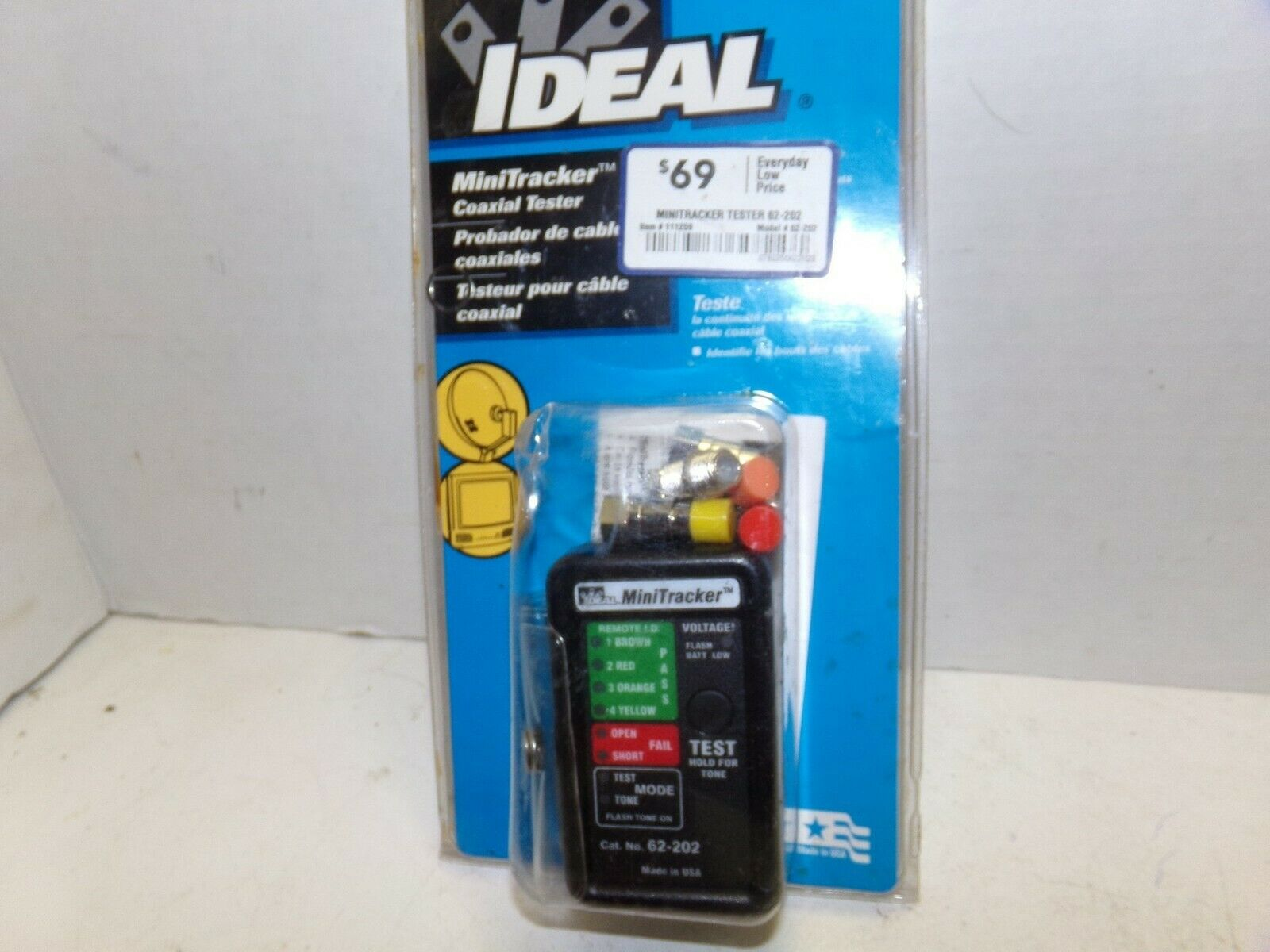 New Ideal Mini Tracker Coaxial Tester USA Made 62-202