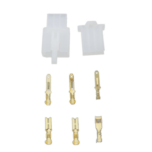 Set of 2.8mm 3Pin Male//Female Wire Connector Electronic Plug w// Terminals