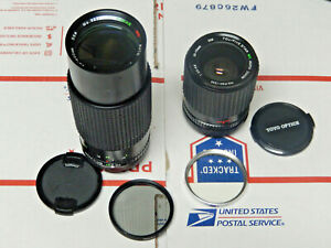 Toyo-Optics-35-75mm-amp-Sakar-80-200mm-Lens-Canon-FD-Mount