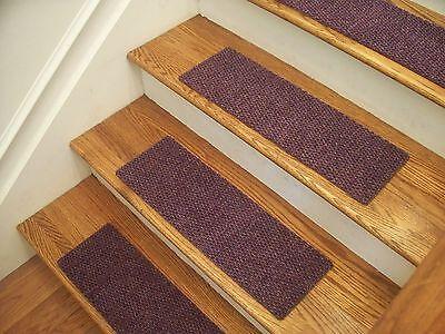 Premium Carpet Stair Tread Sets Berber Lavender 30 X 8 EBay