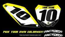 SXF SX 2016 125-450 Pre Printed Number plate Backgrounds F6 SERIES