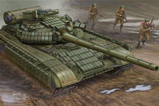 01580 Trumpeter 1 35 Model T-64AV Mod.1984 Tank Main Battle Panzer Vehicle Kit