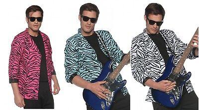 Underwraps Zebra Blazer Pink Blue White 80/'S Rock Mens Halloween Costume 2870