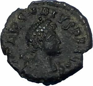 ARCADIUS-383AD-Authentic-Genuine-Ancient-Roman-Coin-VICTORY-w-trophy-i65760