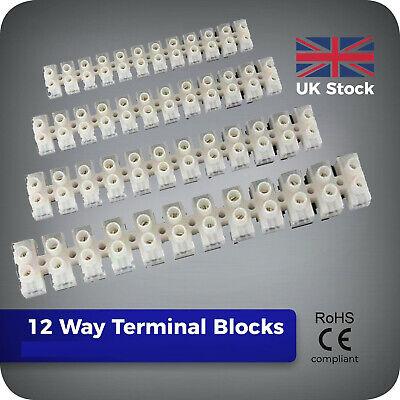 5 Mixte Pack 12 Way connecteur électrique Bandes Terminal chocolat blocs 5 A 15 A 30 A