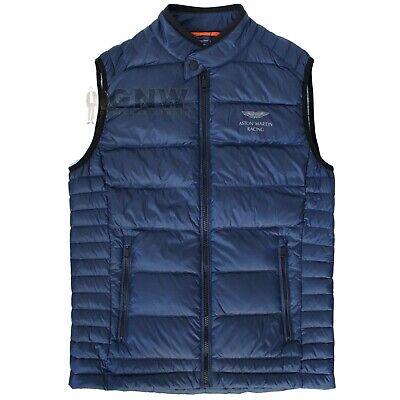 ASTON MARTIN HACKETT MEN GILET//BODY WARMER//JACKET BLACK// BLUE Was £225 NEW