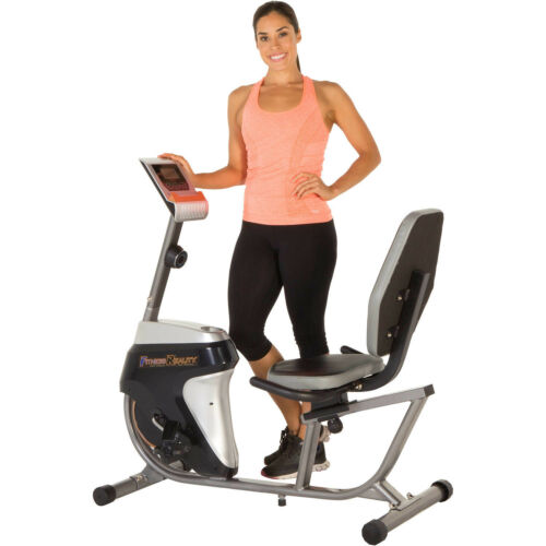 Recumbent Exercise Bike w// Workout Goal Setting Computer Indoor Home Office
