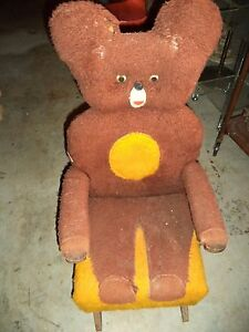 Vintage Child S Teddy Bear Quot Rocky Quot Rocking Chair Brown Fur