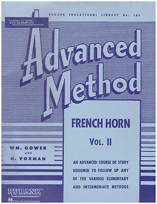 2 Advanced Method Book French Horn In F Or Eb Gower/voxman High Quality Goods Brass Musical Instruments & Gear Trend Mark Rubank Vol