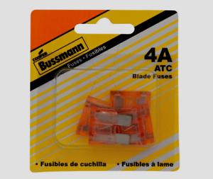Bussmann-Buss-4-amps-32V-ATC-Automotive-0-8-034-Blade-Fuse-5pk-BP-ATC-4-RP-NEW
