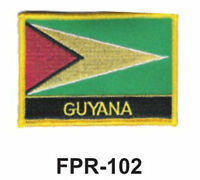 2-1/2'' X 3-1/2 Guyana Flag Embroidered Patch