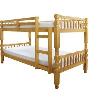 Solid Pine Short Bunk Bed Mattress Size 2ft6 X 5ft External Size