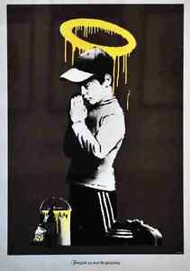 Banksy Forgive us our Trespasses *DISCOUNTED OFFERS*  A3 A4 Poster Print