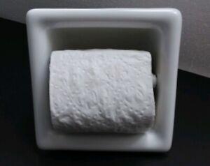 Recessed-Ceramic-Toilet-Paper-TP-Holder-Kohler-White-Mid-Century-Modern-Retro