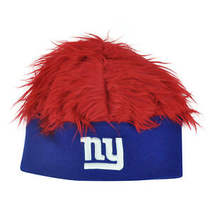 NFL New York Giants Lure Fuzz Hair Headband Knit Beanie Fan Game Day ... 18b74ebda