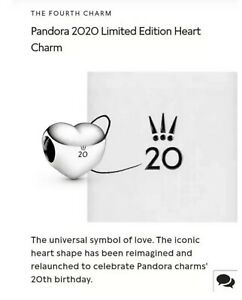 Details about ❤️Pandora 2020 Limited Edition❤️ 20th Anniversary April Heart  Charm In Hand!!!!