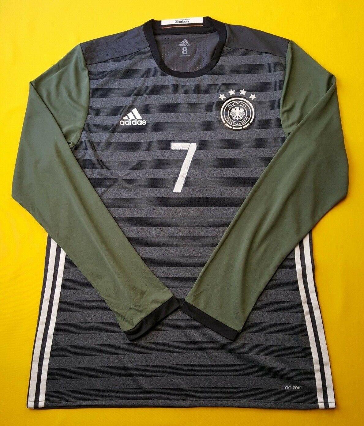 5+ 5 Partido Alemania problema Jersey Camisa Adizero 2016 Largo SL. AA0112 Adidas ig93