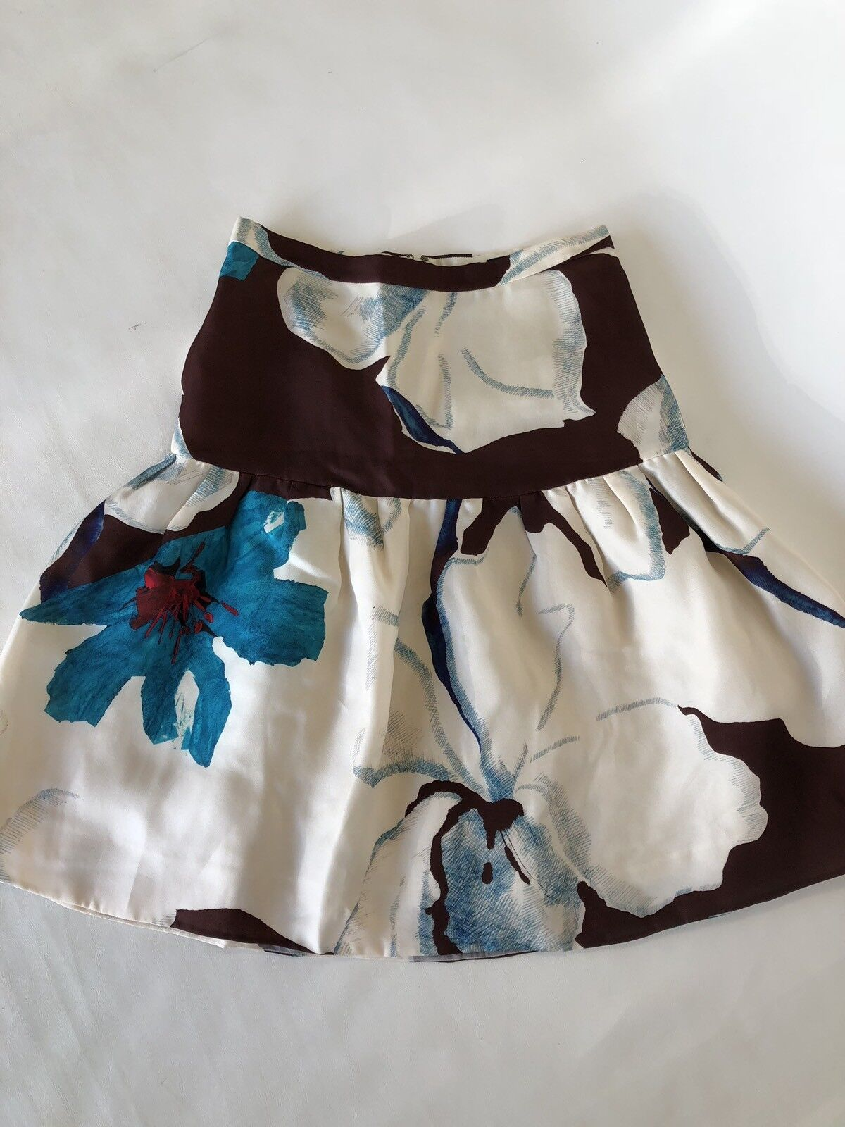JCrew Collection Floral Fit-and-flare Skirt Sample Size 4 Multicolor Knee Length