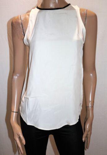 Sleeveless Size Silk Trim Brand Amber Leather By Top 12 Faux sz07 Bnwt Grace waqq0TF