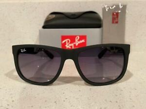 New-Rayban-Rb4165-601-8G-Matte-Black-Justin-Wayfarer-Sunglasses