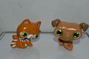 Wondrous Littlest Pet Shop Birthday Cake Topper Brown Cat Green Eyes Brown Funny Birthday Cards Online Elaedamsfinfo