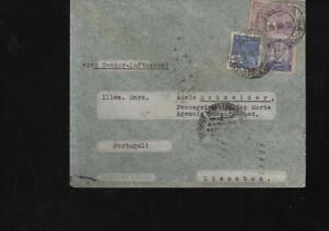 (a67987) Brésil Via Aerea Condor Lufthansa Enveloppe 1938 Rio Après Lissab-afficher Le Titre D'origine