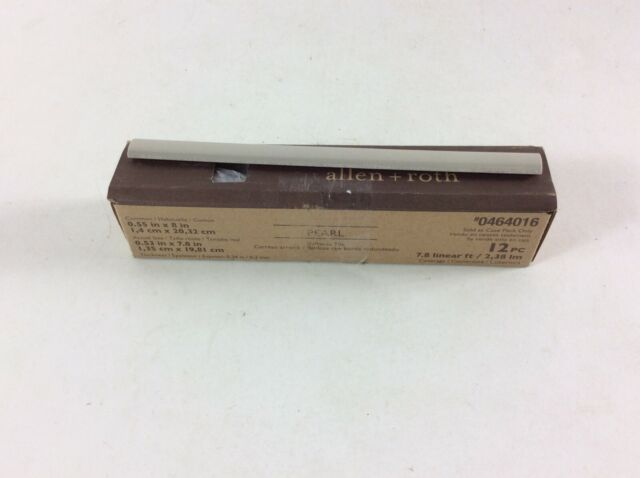 """Roth Pearl Bullnose Tile 12 Piece #0464016 Allen Actual Size 0.53/"""" x 7.8/"""""""