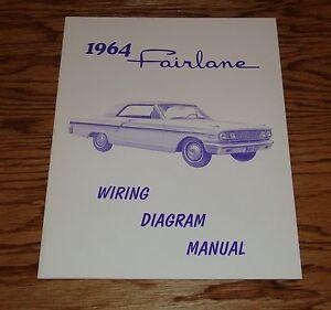 1964 Ford Fairlane Wiring Diagram Manual 64 | eBay