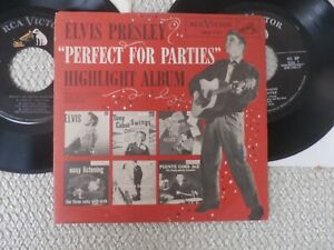 """ELVIS-""""PERFECT FOR PARTIES"""" PROMO  EP. SPA 7-37.. TWO DIFFERENT VARIATIONS!!!"""