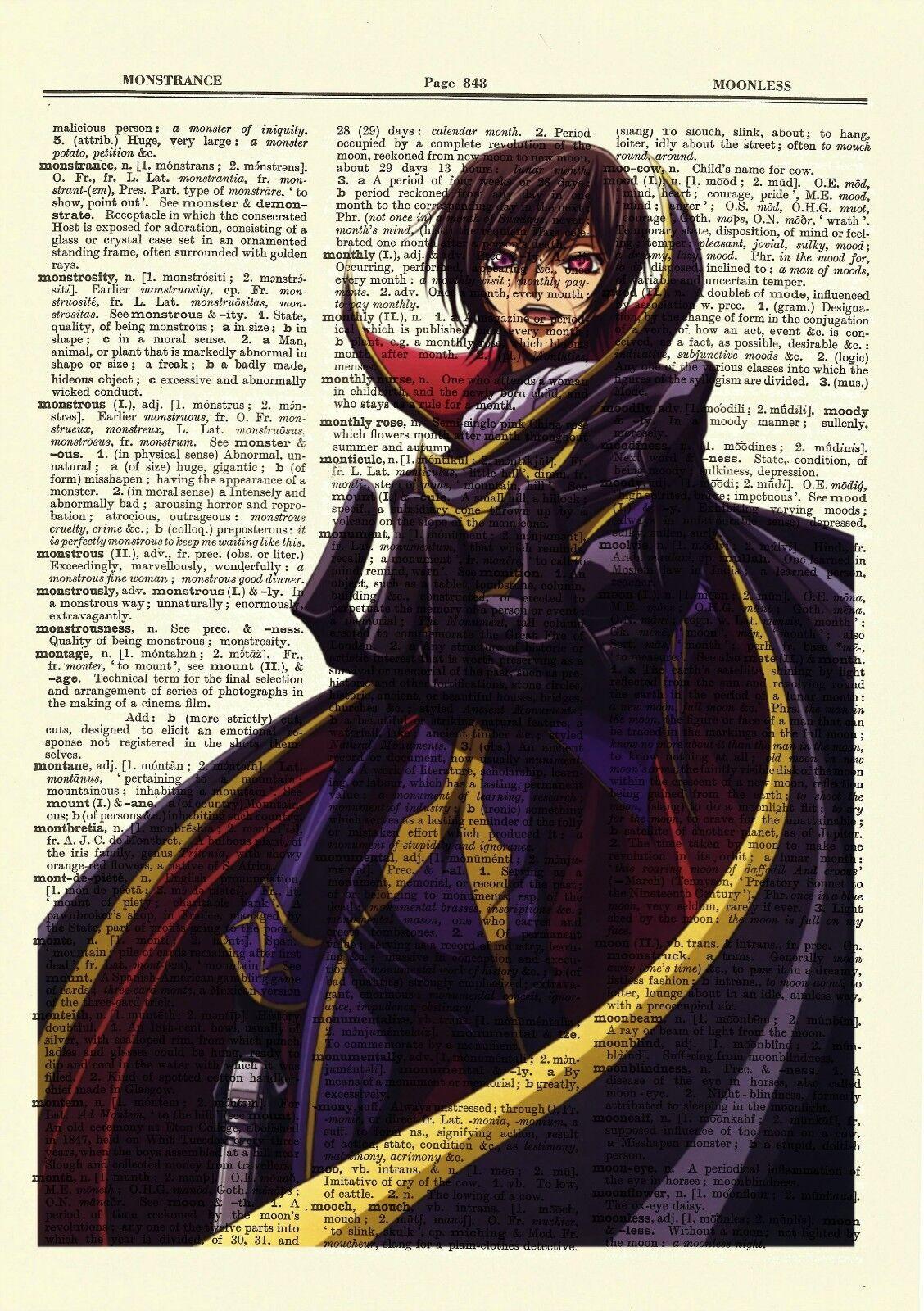 """CODE GEASS ZERO LELOUCH Anime Poster 13x20/"""" 20x30/"""" 24x36/"""" Art Silk Print"""