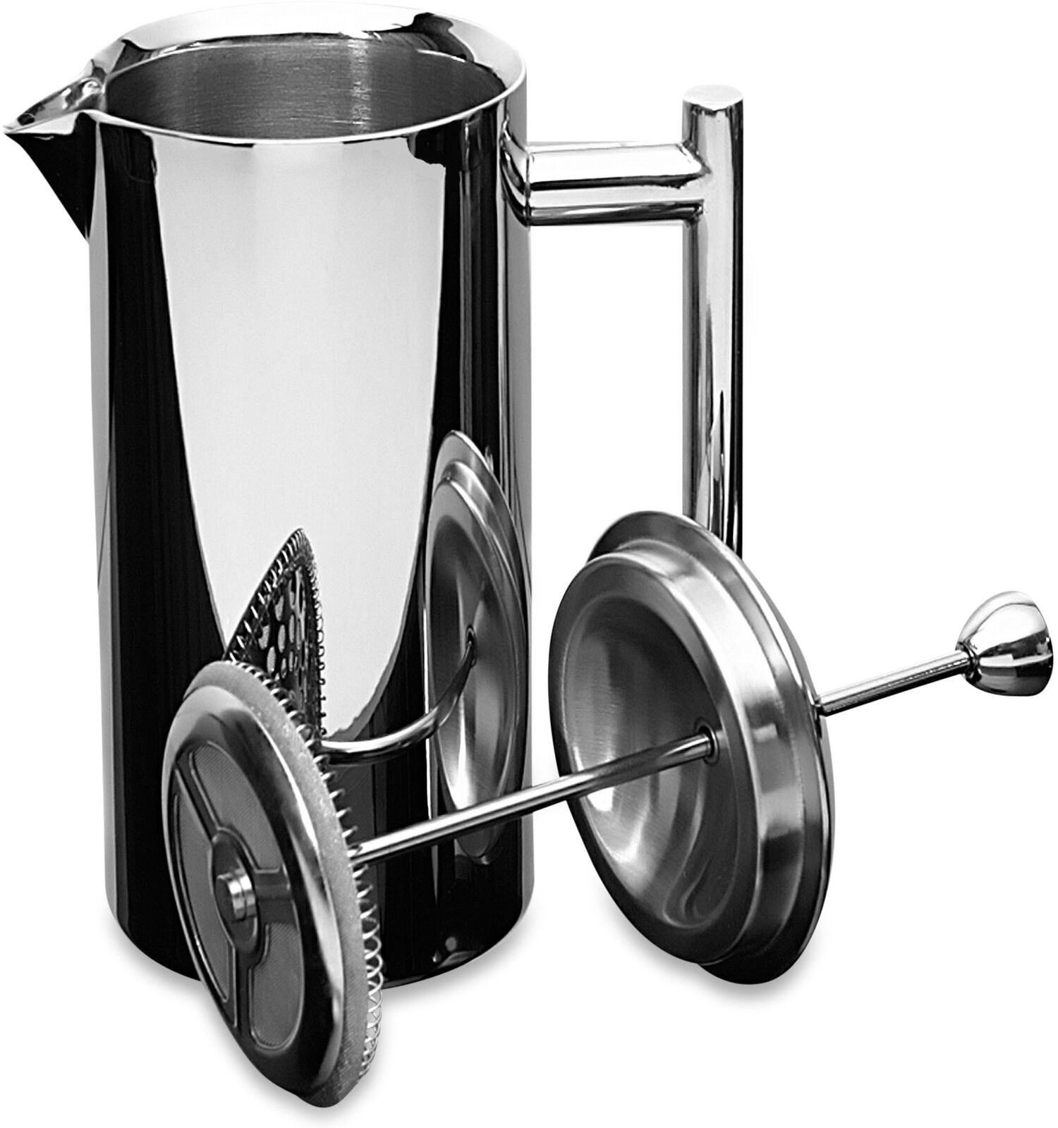 French Press Coffee Maker 35 Oz Insulated Stainless Steel Mirror Finish Handle