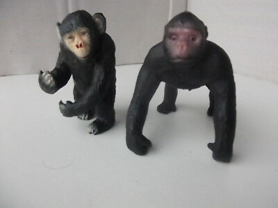 2x In Plastica Chimps Alto 65mm-mostra Il Titolo Originale
