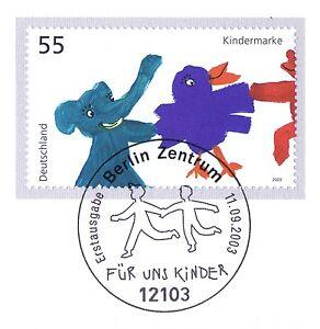Bon CœUr Rfa 2003: Enfants! Bloc Marque Nr 2360 Avec Propre De Berlin Cachet Spécial 1 A 1709-afficher Le Titre D'origine