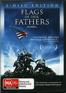 Battle-Iwo-Jima-Flags-of-our-Fathers-Clint-Eastwood-War-DVD-2-x-disc-Movie