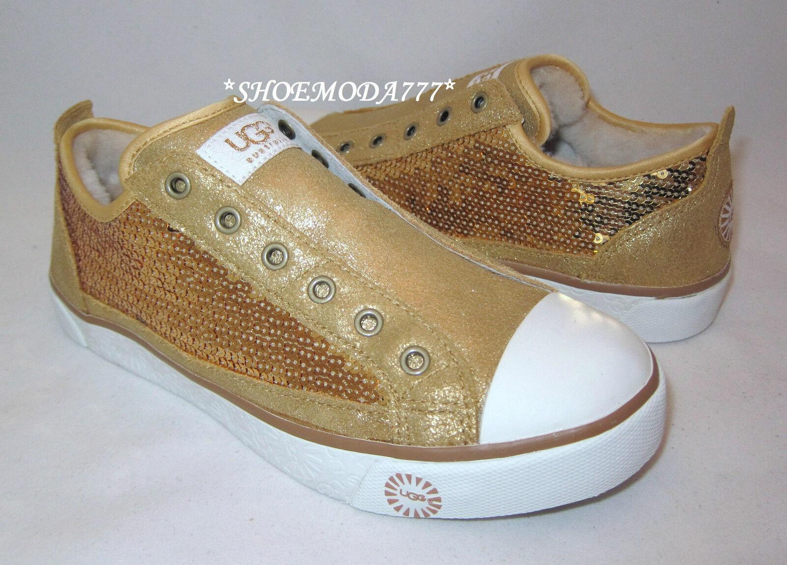 UGG Laela Sparkles Sneaker Schuhe Gold New US 6 7 8 8,5 9,5 10 11 (4,5 5,5 6,5)