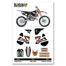 2001-2004 JSTAR KTM SX 125-300 Dirt Bike Graphics kit Motocross Graphics Decal