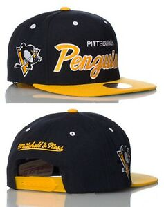 Image is loading NHL-Pittsburgh-Penguins-Mitchell-and-Ness-Snapback-Hat- baaefc92fa2f