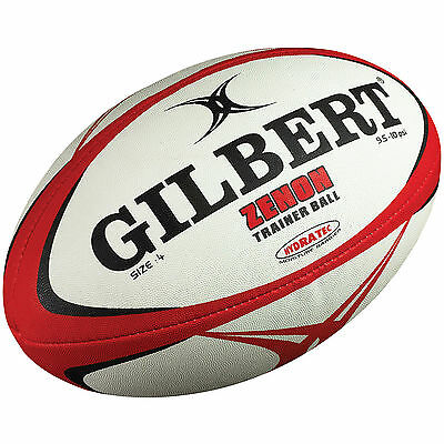NEW Gilbert Zenon Rugby Training Ball - Cheap Club Rugby Quality Ball Size 4, 5