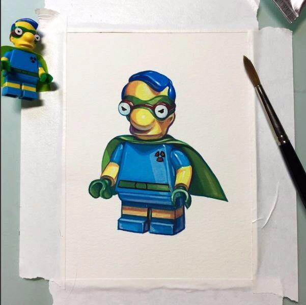 Lego Milhouse Ftutti Out Boy  Minicifra Painting he fatto artlavoro  ultimi stili
