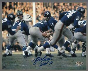 Y-A-Tittle-Signed-Auto-Color-Giants-8x10-Photo-W-HOF-71-SCH-Auth-27684-47