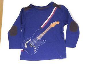 Noppies-Langarm-Shirt-Gr-92-Blau-Gitarre
