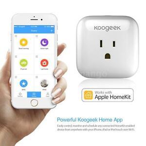 Koogeek Smart Plug WiFi for Appl e HomeKit Electronics Timer Power Control R4G8