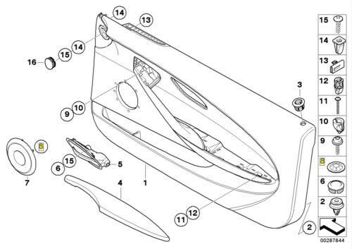 BMW Door Card Speaker Grille Circlip Washer 1364257 64111364257